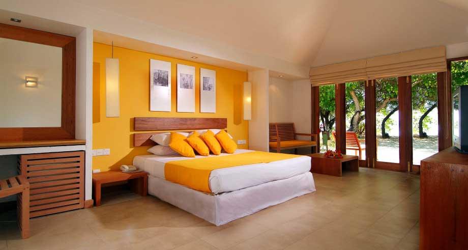 Hudhuran Fushi Maldives_HF-Bed Room 1