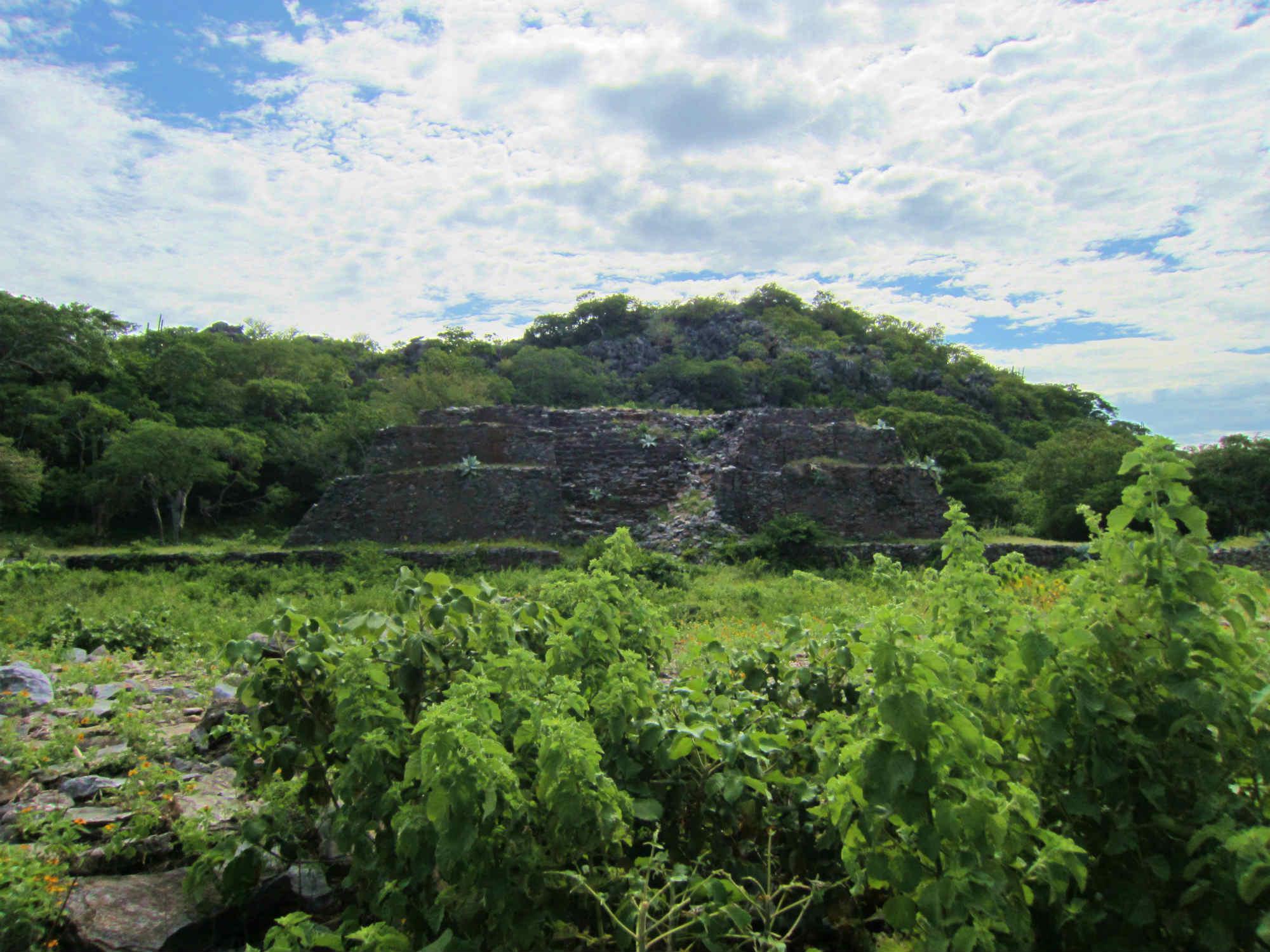 アステカ文明の太陽の神殿。